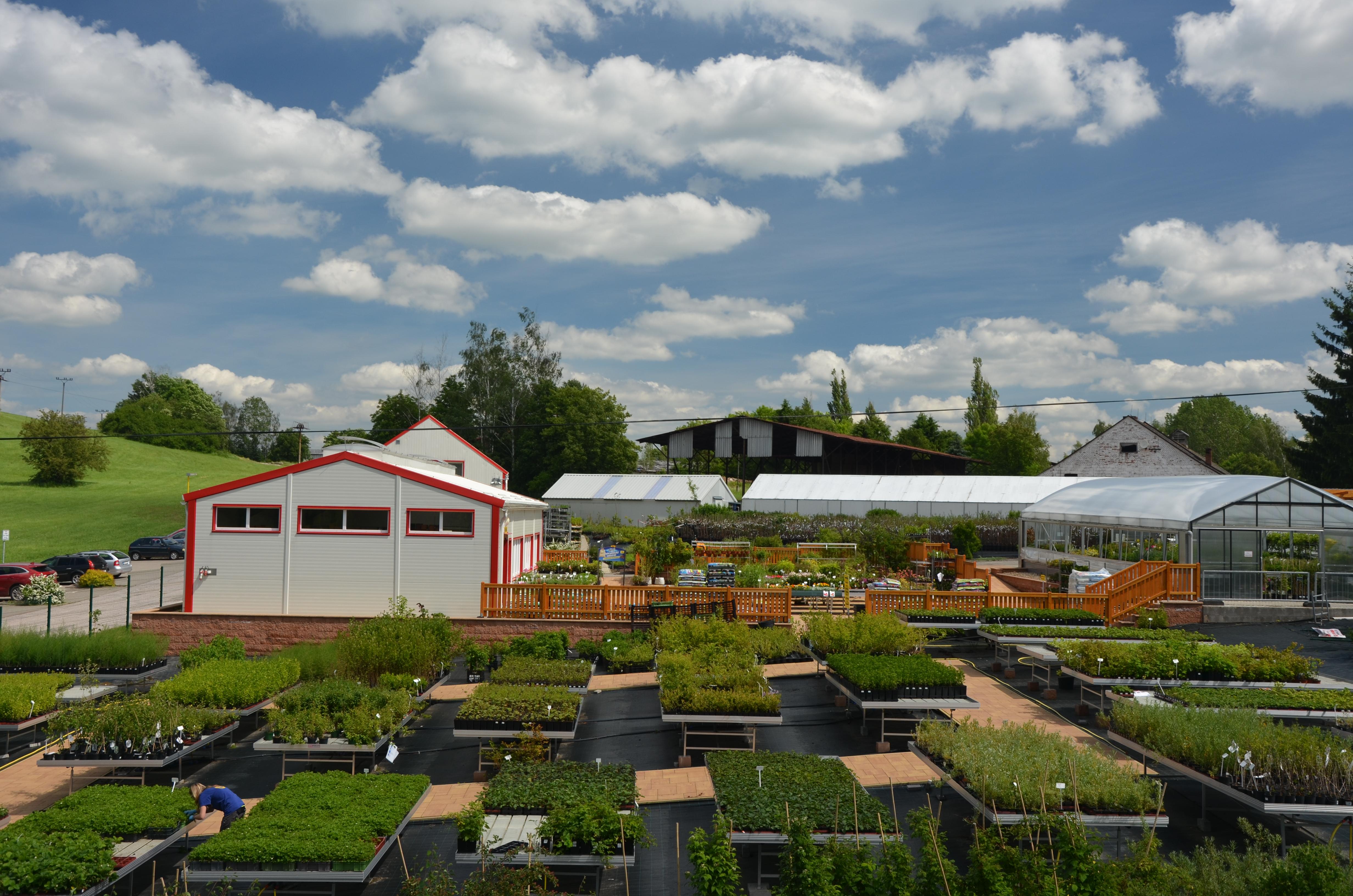 Pohled na areál zahradnictví